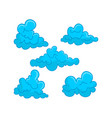 cloud blue design graphic template vector image