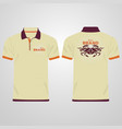 color men polo shirts design template vector image vector image