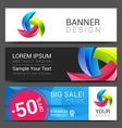 colorful modern text box template for website vector image vector image