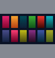 colorful set of gradients design vector image vector image