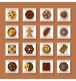 Cookies in boxes flat style with shadow vector image vector image