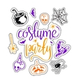 Costume party background vector image vector image