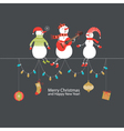 Cute Christmas card with funny company vector image vector image