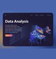 data analysis isometric vector image