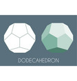 dodecahedron platonic solid sacred geometry vector image vector image