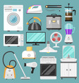 electronic household appliances kitchen vector image vector image