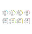 evaporation web traffic and user info icons set vector image vector image