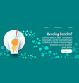 evening cocktail website flat template vector image vector image