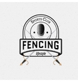 Fencing badges logos and labels for any use vector image
