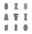 flexible steel spiral metal bended wire coils vector image
