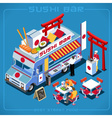 Food Truck 06 Vehicle Isometric vector image vector image