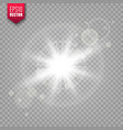 glowing light on transparent background lens vector image vector image