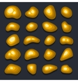 Gold Glitter Pieces Set on Black Background vector image vector image