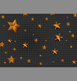 golden and bronze stars abstract background vector image vector image