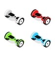 Gyroscooter Color Set Isometric View vector image