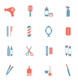 Hairdressing Icons Set vector image