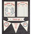 hand drawn vintage invitation tasting sheet banner vector image vector image