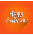 Happy Thanksgiving Lettering Design vector image