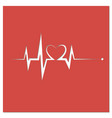 heartbeat line heart cardio vector image vector image