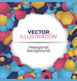 hexagonal abstract background vector image vector image