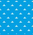 hot burger pattern seamless blue vector image vector image