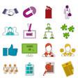 human resource management icons doodle set vector image