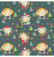kids Christmas pattern vector image