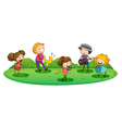 kids playing music vector image
