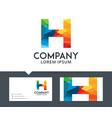 letter h - logo design vector image