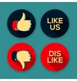 Like us and Dislike symbols vector image