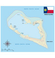 map wake island atoll with flag vector image