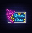 mardi gras symbol with holiday greetings vector image vector image