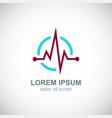 medic pulse logo vector image