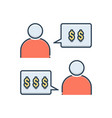 negotiation vector image vector image