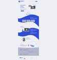 new trendy website landing page theme vector image vector image