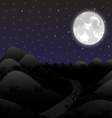 night landscape in full moon vector image vector image