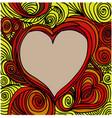ornate heart sketch vector image vector image