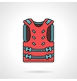 Pink paintball vest icon vector image vector image