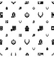 present icons pattern seamless white background vector image vector image