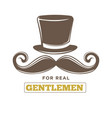 Real gentlemens club isolated vintage emblem with