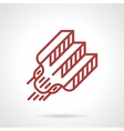 Red line tattoo needle icon vector image