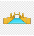 rialto bridge canals venice icon cartoon style vector image vector image