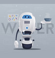robot character technology future vector image