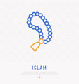 rosary beads thin line icon vector image