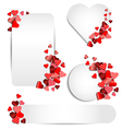 set heart frame for valentine day vector image vector image