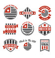 set of made in the usa labels and badges vector image vector image