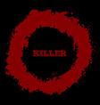 Shotgun hole bullet red hole blood splatters vector image