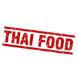 square grunge red thai food stamp vector image vector image