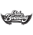 stylish monochrome on skateboarding vector image vector image