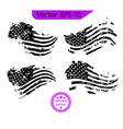 usa flag distressed american flag military army vector image vector image